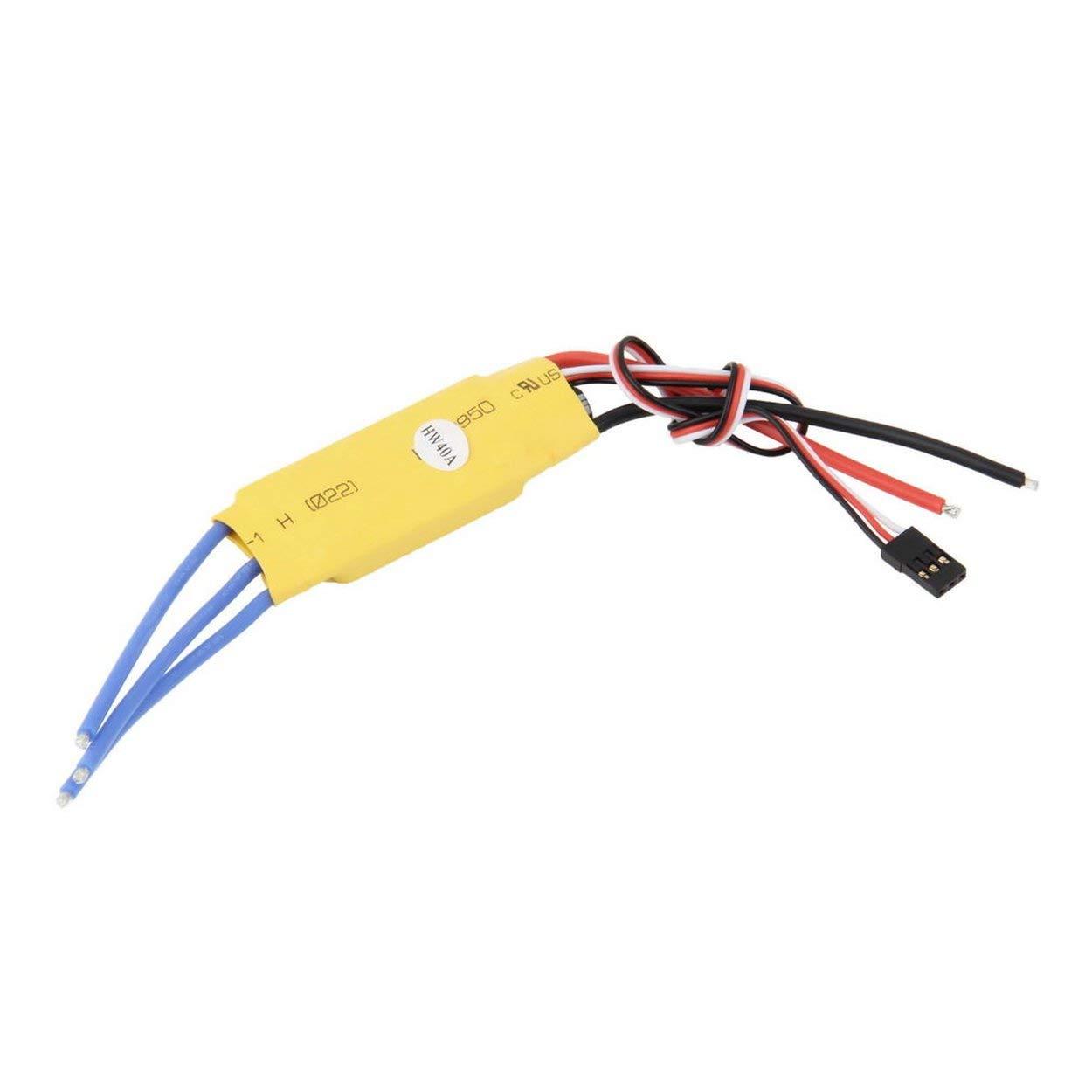 Lorenlli Ad Alte Prestazioni 40A ESC Fit per Il Motore Elettrico Brushless Motor Controller PRO RC Elicotteri Aerei