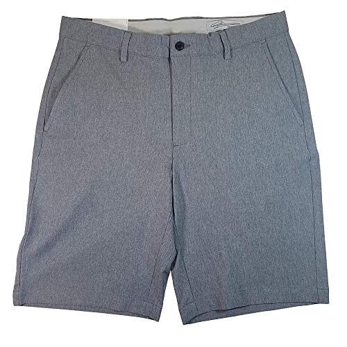 Greg Norman ML75 Luxury Microfiber Ultimate Travel Golf Shorts (Steel Grey Heathered, 32)