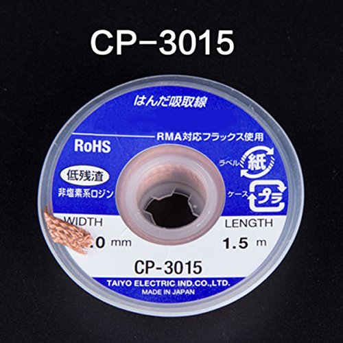 Hot 5 Pcs Desoldering Braid Solder Remover Wick Wire Soldering Tools CP-1515/2015/2515/3015/3515