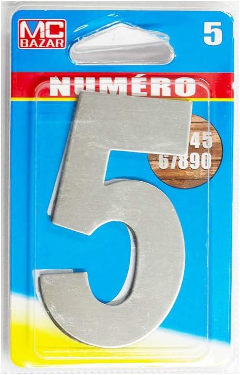 MC Bazard Chiffre ADHESIF INOX 4-8cm