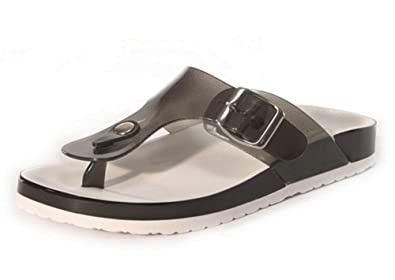 94f36da7db20 Ella Ladies Footbed Sandals Toepost Flat Comfort Slip On Shoes Beach Buckle  Mule Wedge Jelly  Amazon.co.uk  Shoes   Bags