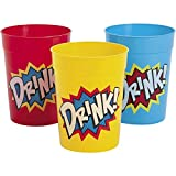 Superhero Comic Book birthday party supplies 24 pack favor cups