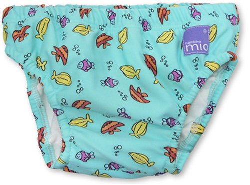 Bambino Mio Swim Nappy- Blue Fish-Small BBM-SWPSA