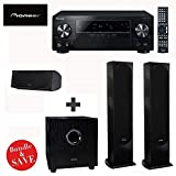 Pioneer VSX-1024 7.2-Channel Network A/V Receiver (Black) + 2 Pioneer SP-FS52-LR Andrew Jones Designed Floor standing Loudspeaker (each) + Pioneer SP-C22 Andrew Jones Designed Center Channel Speaker + Pioneer SW-8MK2 Andrew Jones Designed 100-Watt Powered