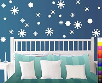 Amazoncom StikEez White SnowFlake Pack Multi Size Fun Wall - Snowflake window stickers amazon