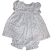Kissy Kissy Baby Girls Garden Roses Print Dress With Diaper Cover- 6-9 Months