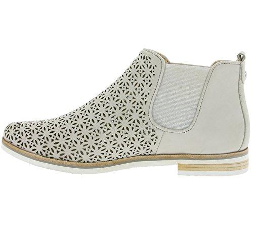Caprice 25301 Damen Chelsea Boots Grau
