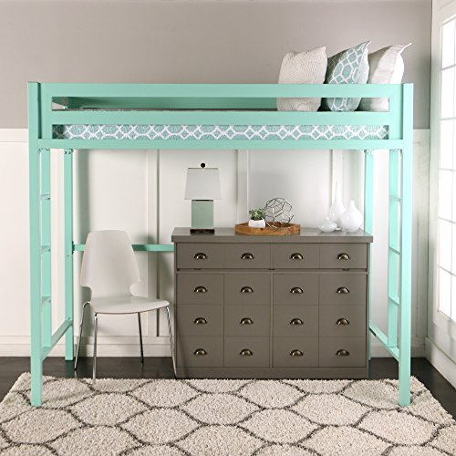 We furniture premium twin metal loft bed mint best deals toys Best deal on twin mattress
