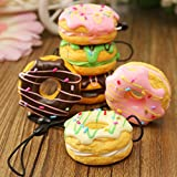 Jumbo Squishies Kawaii Package | Slow Rising Squishy Food | 3 Pack Donut Ice Cream & Mini Kawai Cream Scented Stress Reliever | Phone Accessories Squishy | Pillow Cake | Sweet Scented Vent Charms