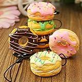 Kawaii Squishies Jumbo Package | Slow Rising Squishy Food | 3 Pack Donut Ice Cream & Mini Kawai Cream Scented Stress Reliever | Phone Squishy | Pillow Cake