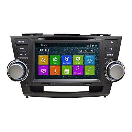 Otto Navi GPS DVD Player In Dash OE Fitment Navigation Radio USB SD Unit for 08-12 Toyota Highlander