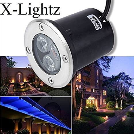 3W LED Inground Light Outdoor Path Light Warm White Underground Lamp Waterproof