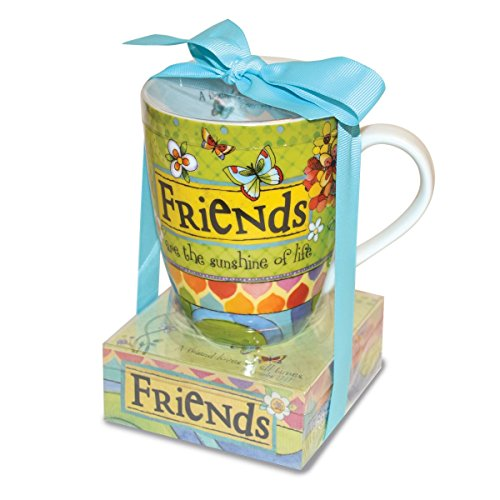 Sasha Mug - Divinity Boutique 23779 Ceramic Mug and Memo Pad Friends, Multicolor
