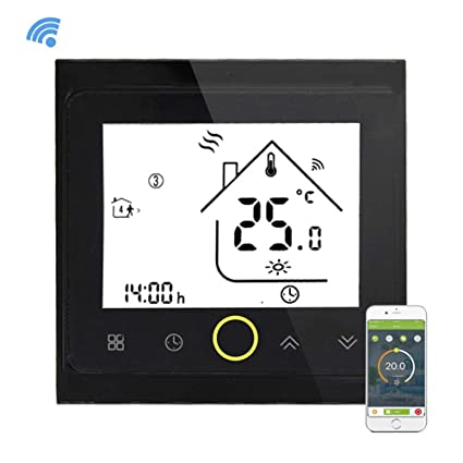 Yiruy Programmable WiFi Thermostat for Water Heating LCD Display Smart WiFi Temperature Controller Compatible with Alexa