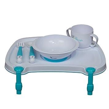 Bo Jungle B-Dinner Baby Tischset mit Besteck und Geschirr Essset Wei/ß B550500