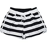 Product review for Black&white Stripes Beach Pants Sport Shorts Quick-drying Loose Hot Pants