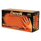 Adenna Catch 8 mil Nitrile Powder Free Gloves (Orange, Large) Box of 100