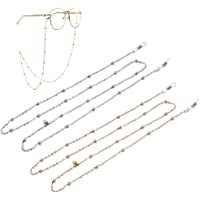 HEYDEFOAU 2pcs Women Eyeglass Chain and Cords, Reading Glass Lanyard for Women, Sunglass Strap Holder