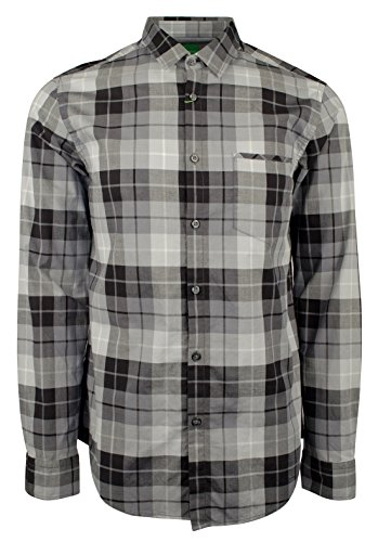 BOSS Hugo Boss Check Regular Fit Cotton 50326492 001 Men's Shirt (Large) by Hugo Boss