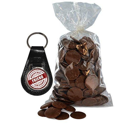 mejor con g del y de bolsa de botones mundo de cuero leche chocolate 200 de con amigo sello de Llavero wqOCEXC