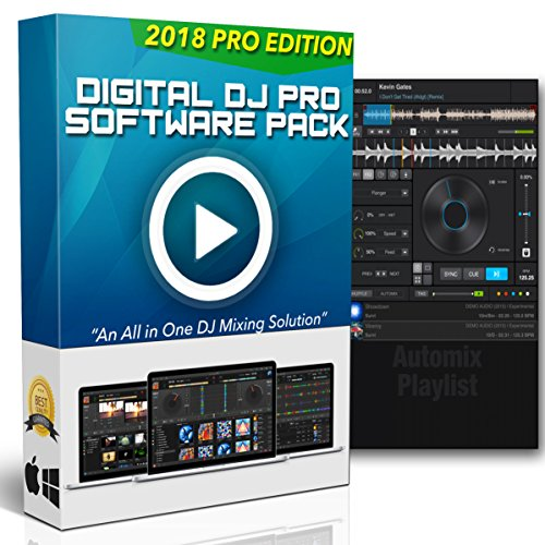 Professional Music Mixing Software (Digital DJ Pro | Professional DJ Mixing Software for Mac & Windows - Controller Support, Karaoke Software & Live Sound Recorder + Bonus Drops & Effects)