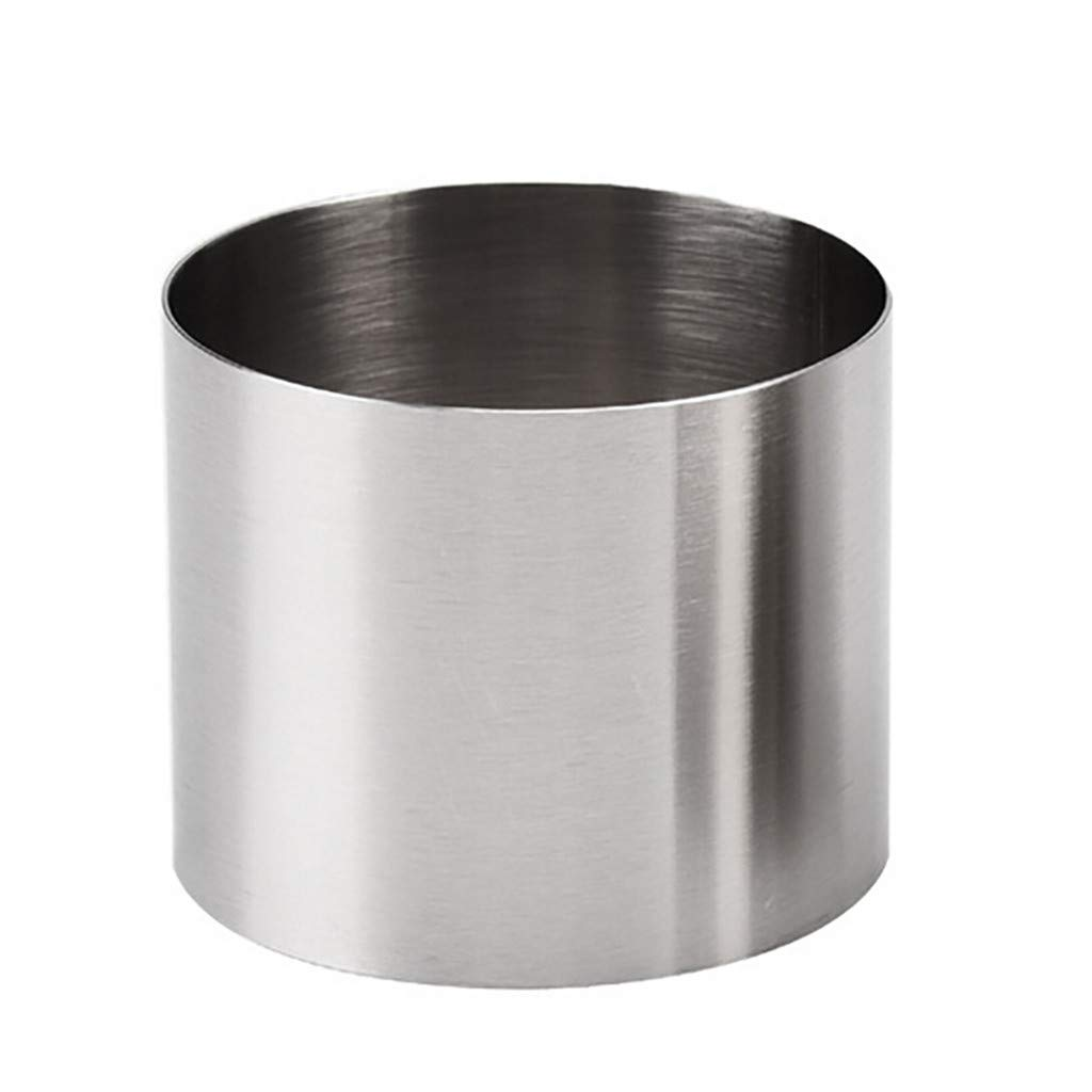 Colmkley Round Stainless Steel Small Cake Rings, Mousse and Pastry Mini Baking Ring Mold, Mini Round Food Pastry Ring Mousse Cake Mold, Durable, Anti-Fingerprints, Wear-Resistant