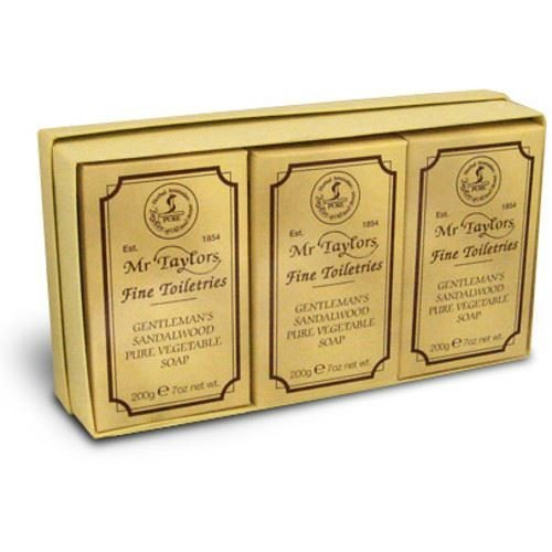 Taylor of Old Bond Street 3X Sandalwood 200g Bath Soaps