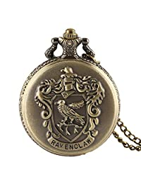Pocket Watch, Harry Potter Ravenclaw Theme Pocket Watch Classic Ravenclaw Designer Quartz Pocket Watch with Necklace Chain for Men Women - Ahmedy Pocket Watch