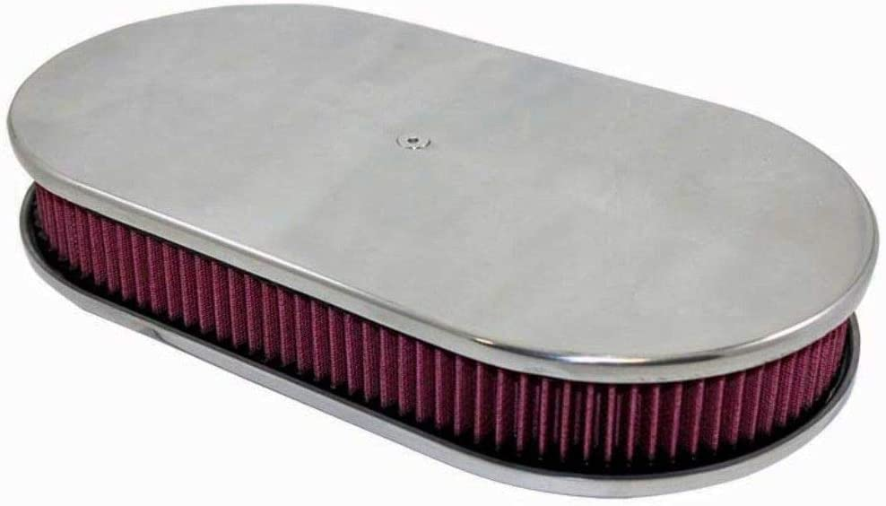 "Aluminum 15/"" Oval Air Cleaner Base Smooth Polished"
