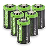 Enegitech 6 Pack CR2 3V 800mAh Lithium Photo Battery with PTC Protection DL-CR2 for Laser Boresighter, Laser Pointer, Golf Rangefinder, Funifilm Instax Mini55, Snuza Baby Monitor, Flashlight