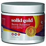 Solid Gold Berry Balance Nutritional Supplement Powder for Dogs & Cats, Natural Cranberry & Blueberry Flavor, All Ages, All Sizes, 3.5 oz Tub