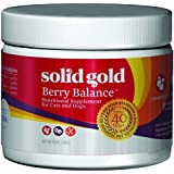Solid Gold Berry Balance Nutritional Supplement Powder for Dogs & Cats, Natural Cranberry & Blueberry Flavor, All Ages, All Sizes, 3.5oz Tub (Packaging May Vary)