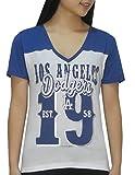 Womens Los Angeles Dodgers Short Sleeve T-Shirt (FOIL PRINT) by MLB