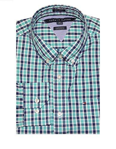 Tommy Hilfiger Men Custom Fit 80's 2 Ply Plaid Shirt