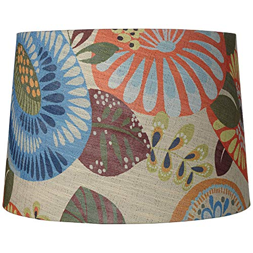Tropic Drum Shade 14x16x11 (Spider) - Springcrest (Shades Colored Lamp)