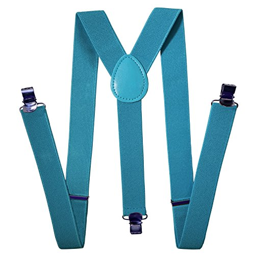 Womens and Mens Suspenders Adjustable Solid Straight Clip by Action Ward Stylish