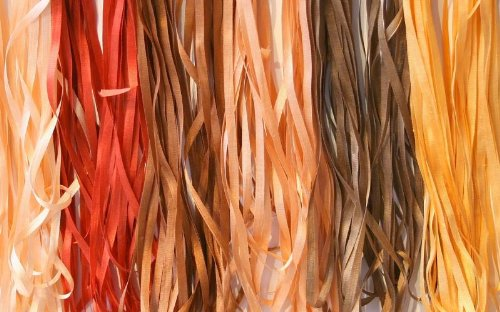 New ThreadNanny 6 Spools of 100% Pure Silk Ribbons - Brown Tones - 60 mts x 4mm
