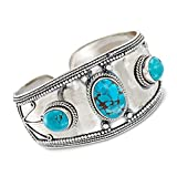 Ross-Simons 10-18mm Turquoise Cuff Bracelet in Sterling Silver