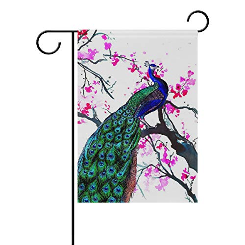 - Blossom Peacock Garden Flag 28 x 40 Inch Holiday House Flags Inch for Party Yard Home Decor Double-Sided Durable Polyester