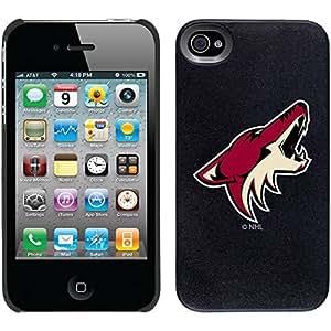 Arizona Coyotes - Primary Logo design on Black iPhone 4s / 4 Thinshield Snap-On Case