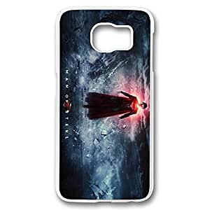 S6 Case, Galaxy S6 Case, Crystal Clear Slim Fit Hard Bumper Case for Samsung Galaxy S6 Superman Man Of Steel Hard Clear Shock-Absorption Bumper for Samsung Galaxy S6