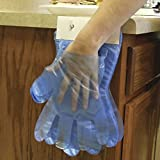 Handgards Quickserve Poly Blue One Size Fits All Disposable Glove -- 1000 per case.