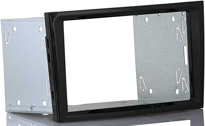 Meins24 Ohg Einbauset Passend Für Opel Astra H Corsa D Doppel 2 Din Radioblende Piano Black Schwarz Glänzend Einbaurahmen Auto