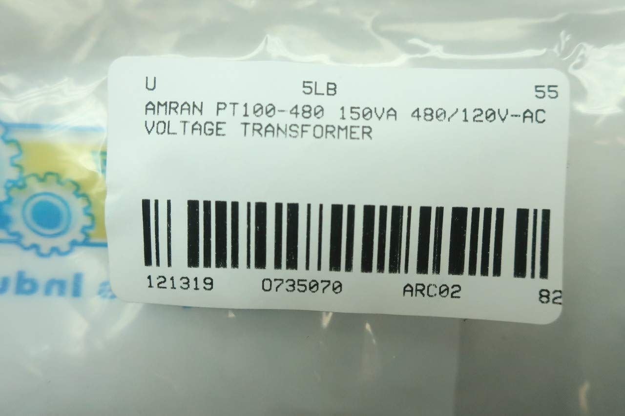 AMRAN PT100-480 Voltage Transformer 150VA 480//120V-AC