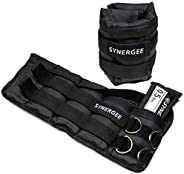 Synergee Comfort Fit Adjustable Ankle/Wrist Weights (Set of 2). Available in 5lb, 10lb & 20lbs. One Size F