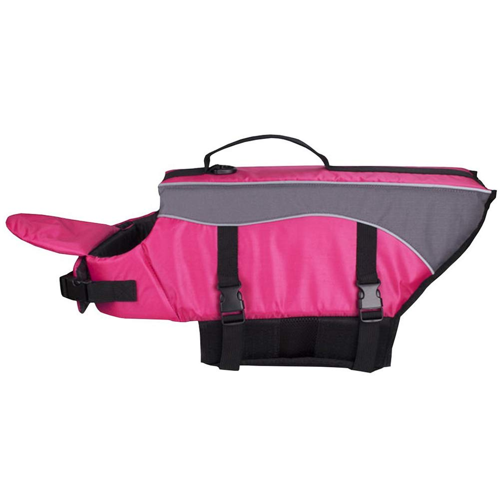 pinkred LLife Jackets For Dogs with Front Float,Summer Pet Life Swimming Vest,pinkred,L