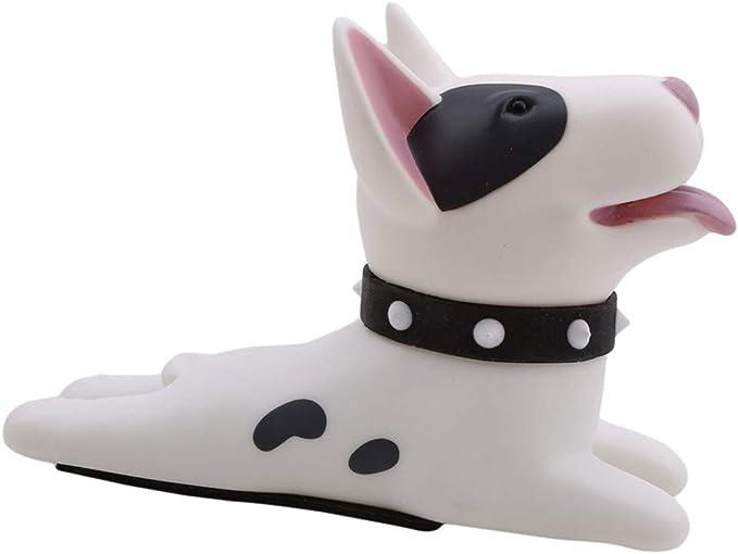 Ogquaton Tope de puerta Premium Cu/ña Perro lindo Gato Puerta Tap/ón de puerta Cu/ña Ni/ños Protector de puerta Prevenga la abrazadera blanco