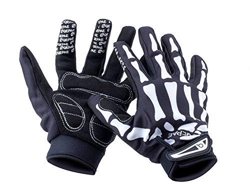 Basecamp Bike Full Finger Skeleton Gloves,Slip-Resistant Performance Specialized Bike Cycling Bicycle Riding Gloves for Women and Men,Bone Skeleton Gloves Costume Hand Gloves for Bike Riders