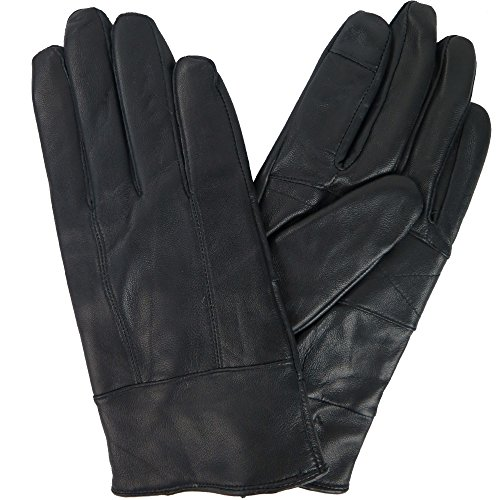 (Womens Genuine Leather Winter Touchscreen Gloves With Cashmere Lining By Debra Weitzner Medium)