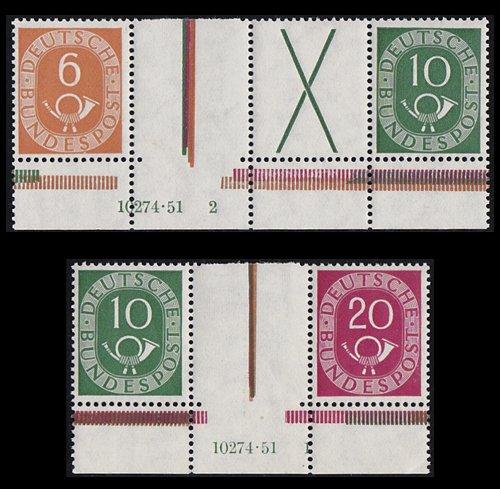 Goldhahn BRD WZ1 HAN + WZ4 HAN postfrisch  Briefmarken für Sammler